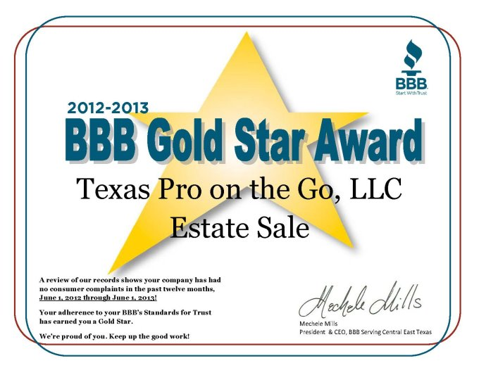 BBB Gold Star Award